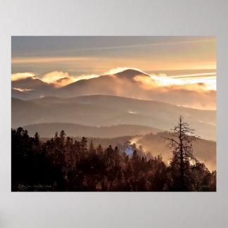 地吹雪-ジェームスのピーク、コロラド州 ポスター