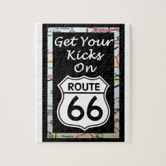 地図が付いているルート66のあなたの蹴りを得て下さい ジグソーパズル