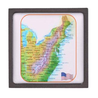 地図のアパラチア山脈の東海岸米国の写真 ギフトボックス