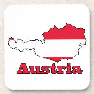 地図のオーストリアの旗 コースター