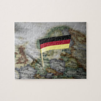 地図のドイツの旗 ジグソーパズル