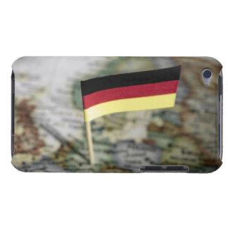 地図のドイツの旗 Case-Mate iPod TOUCH ケース