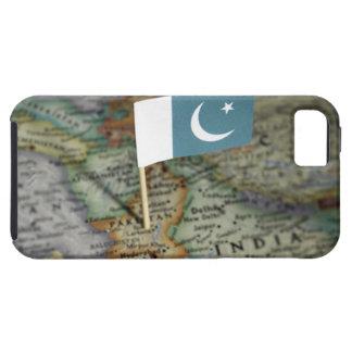 地図のパキスタンの旗 iPhone SE/5/5s ケース