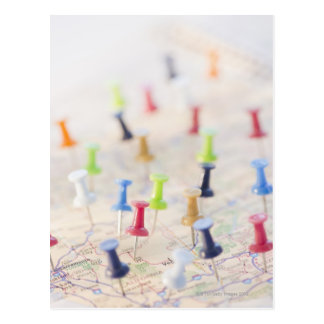 地図のピン ポストカード