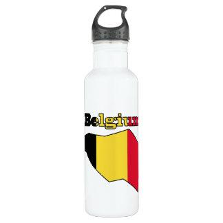 地図のベルギーの旗 ウォーターボトル