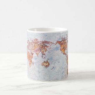 地図のマグ コーヒーマグカップ