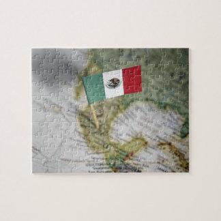 地図のメキシコ旗 ジグソーパズル