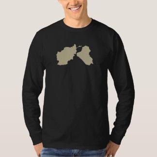 地図の前部が付いているOEF OIFの獣医のワイシャツ Tシャツ