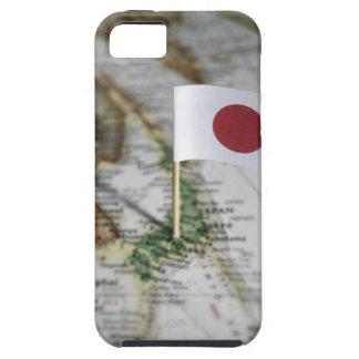 地図の日本のな旗 iPhone SE/5/5s ケース