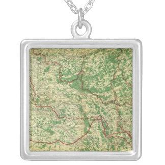 地図の西部戦線 シルバープレートネックレス