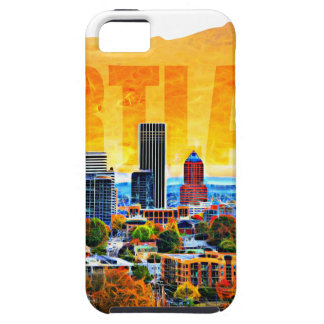 地図の輪郭のポートランドオレゴン都市景観 iPhone SE/5/5s ケース