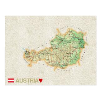 地図の郵便はがきの♥オーストリア ポストカード