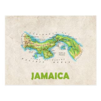 地図の郵便はがきの♥ジャマイカ ポストカード