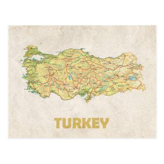 地図の郵便はがきの♥トルコ ポストカード