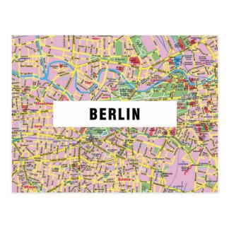 地図の郵便はがきの♥ベルリン ポストカード