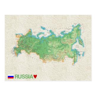 地図の郵便はがきの♥ロシア ポストカード