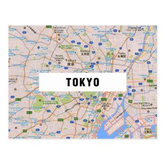 地図の郵便はがきの♥東京 ポストカード