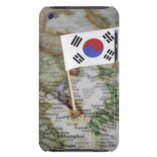 地図の韓国の旗 Case-Mate iPod TOUCH ケース