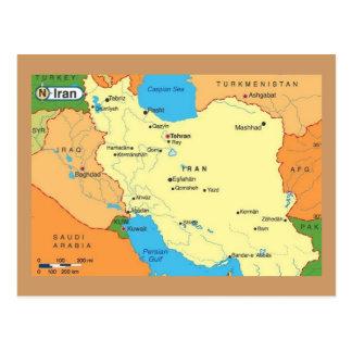 地図イラン90年代 ポストカード