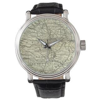 地図オハイオ州およびミシシッピーの鉄道 腕時計