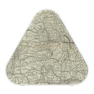 地図オハイオ州およびミシシッピーの鉄道 BLUEOOTH スピーカー