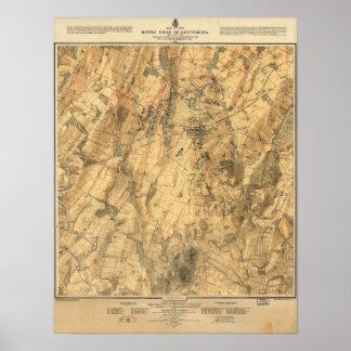 地図ゲティスバーグの戦い ポスター