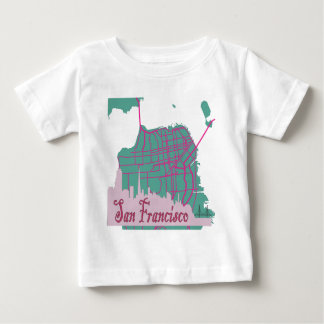地図サンフランシスコ ベビーTシャツ