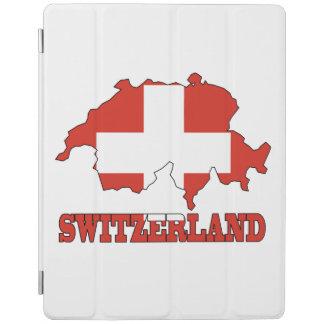 地図スイス連邦共和国の旗 iPadスマートカバー