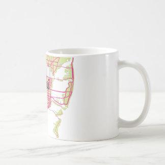 地図マイアミ コーヒーマグカップ