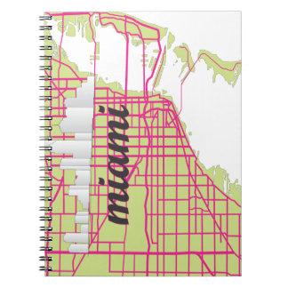 地図マイアミ ノートブック