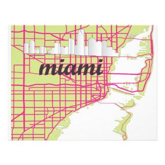 地図マイアミ レターヘッド