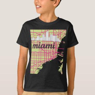 地図マイアミ Tシャツ