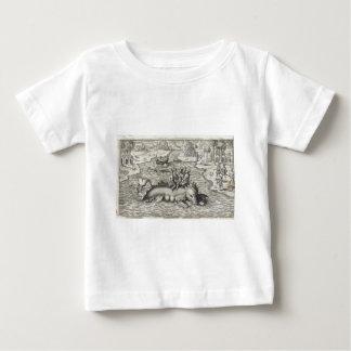 地図モンスターかシーサーペント ベビーTシャツ