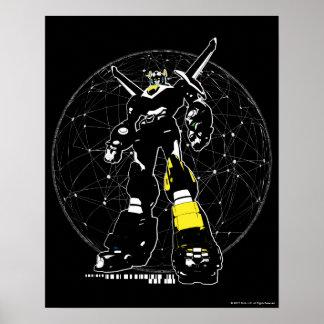 地図上のVoltron |のシルエット ポスター