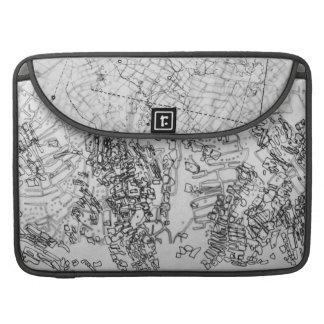地図作成 MacBook PROスリーブ