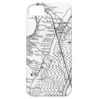 地図展覧会のコレクション: 手の線画 iPhone SE/5/5s ケース