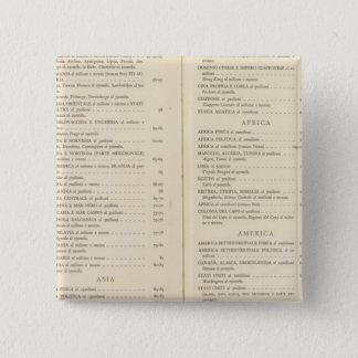 地図書インターナショナル 5.1CM 正方形バッジ