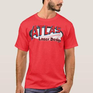 地図書レーザーのデザイン-暗い色 Tシャツ