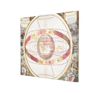 「地図書CoelestisからのPlanisphere、 キャンバスプリント