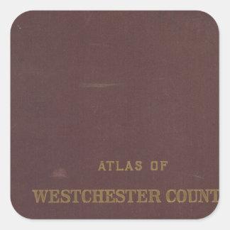 地図書Westchester Co、NY スクエアシール