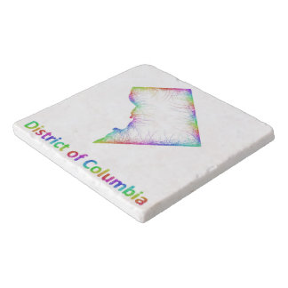 地図虹のコロンビア特別区 トリベット