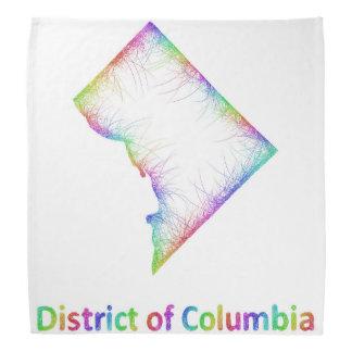 地図虹のコロンビア特別区 バンダナ
