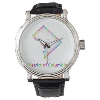 地図虹のコロンビア特別区 腕時計
