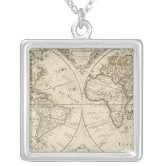 地図2 シルバープレートネックレス