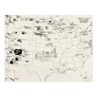 地図: アメリカインディアン2 ポストカード