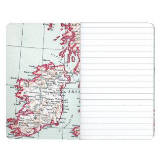 地図: イギリス諸島、c1890 ポケットジャーナル