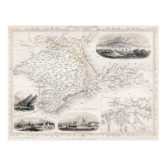 地図: クリミア、c1855 ポストカード