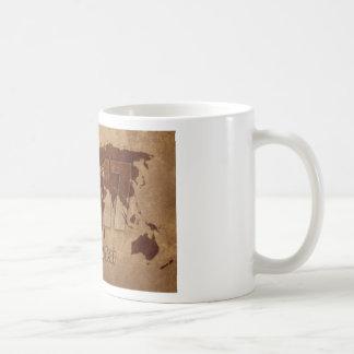 地図 コーヒーマグカップ