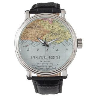 地図: プエルトリコ1900年 腕時計