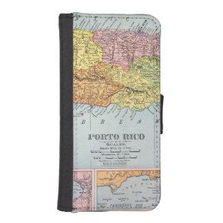 地図: プエルトリコ1900年 iPhoneSE/5/5sウォレットケース
